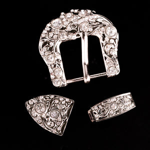 Crystal Vines Buckle Set (7 colors)