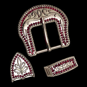 Rhinestone Border Buckle Set (5 colors)
