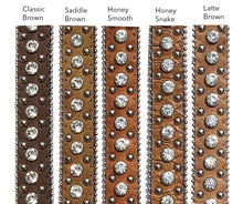 Load image into Gallery viewer, Honey Brown Snake Concho Belt Strap (2 variations)