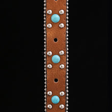 Load image into Gallery viewer, Honey Brown Concho Belt Strap (2 variations)