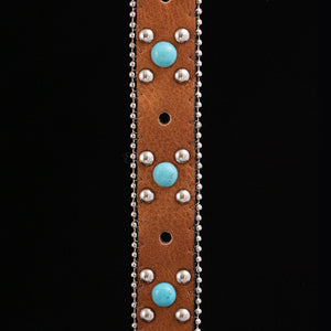 Honey Brown Concho Belt Strap (2 variations)