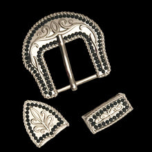 Load image into Gallery viewer, Rhinestone Border Buckle Set (5 colors)