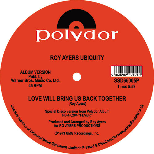 Roy Ayers Ubiquity - Running Away / Love Will Bring Us Back Together - SOUTH STREET DISCO