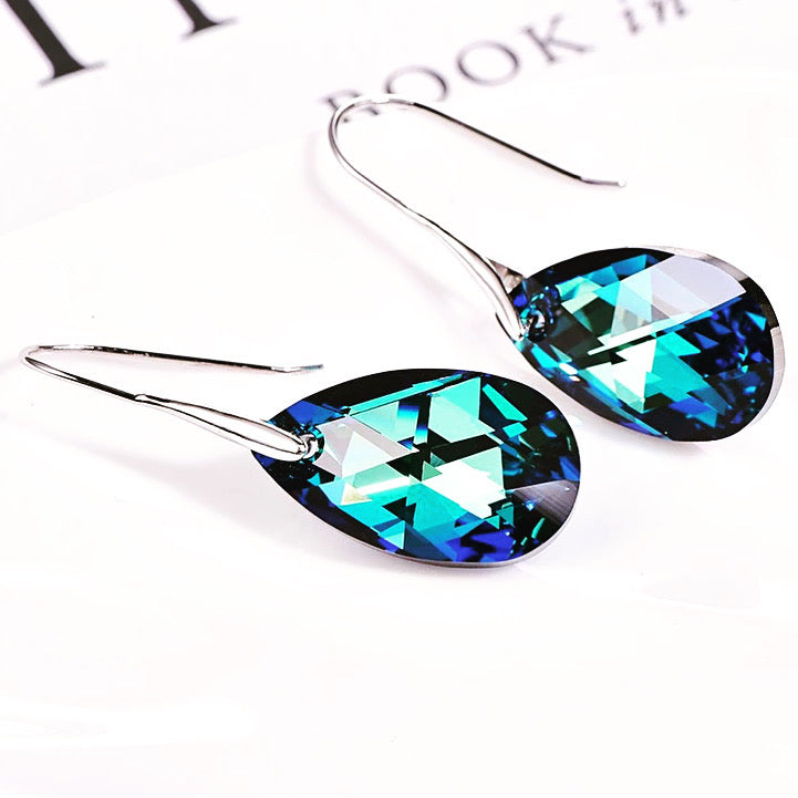Oceania Blue Crystal Earrings