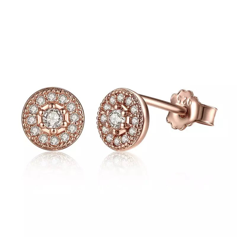 Adalene Rose Gold Stud Earrings