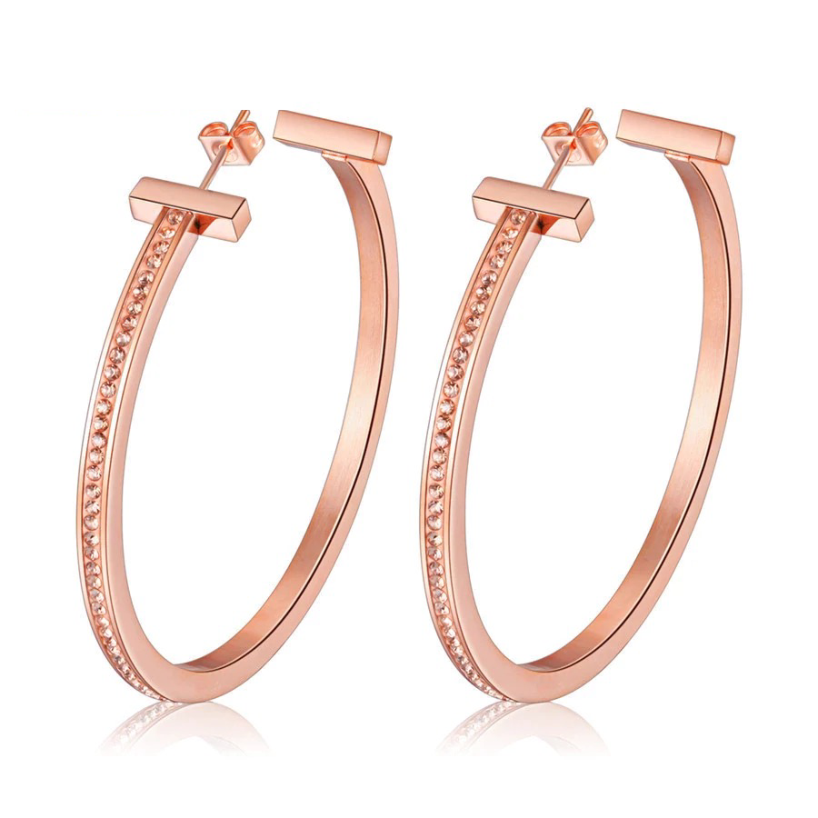 Aria Rose Gold Hoop Earrings