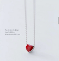 Harmony Heart Red/Black Necklace
