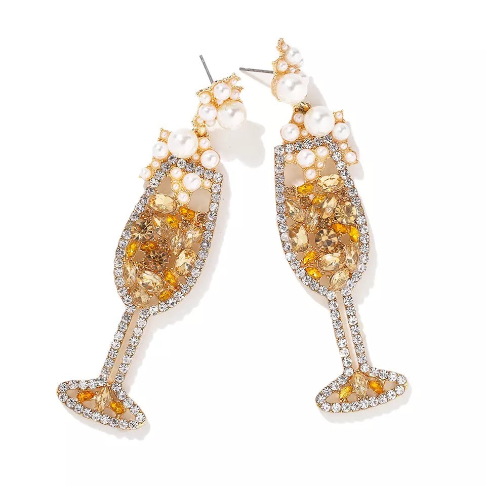 Champagne Petillant Gold Earrings