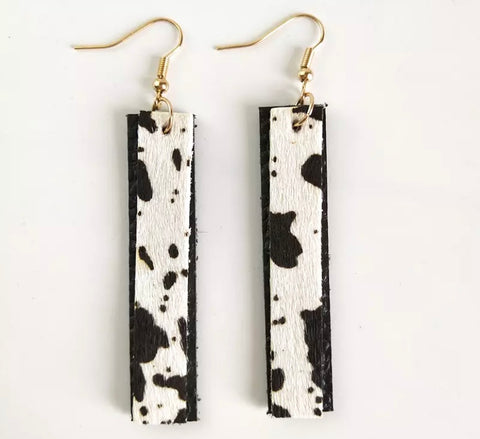 Adele Black Hide Earrings