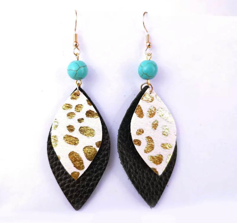 Avra Black Gold Earrings