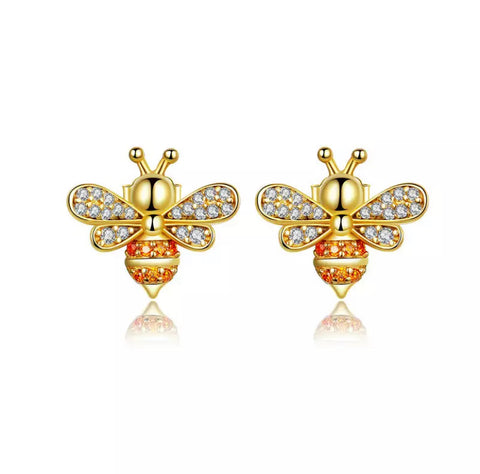 Benet Bee Gold Earrings