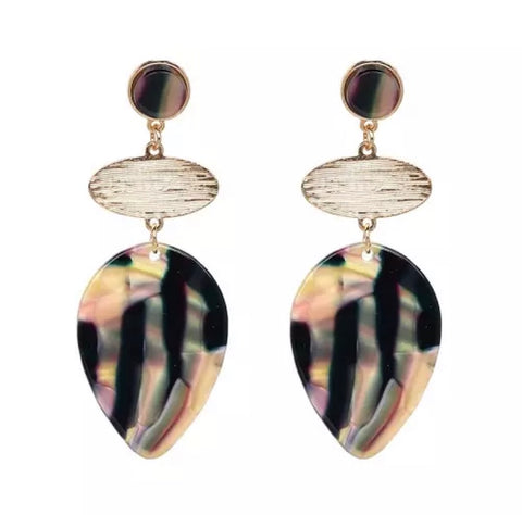 Scarlett Black Summer Drop Earrings