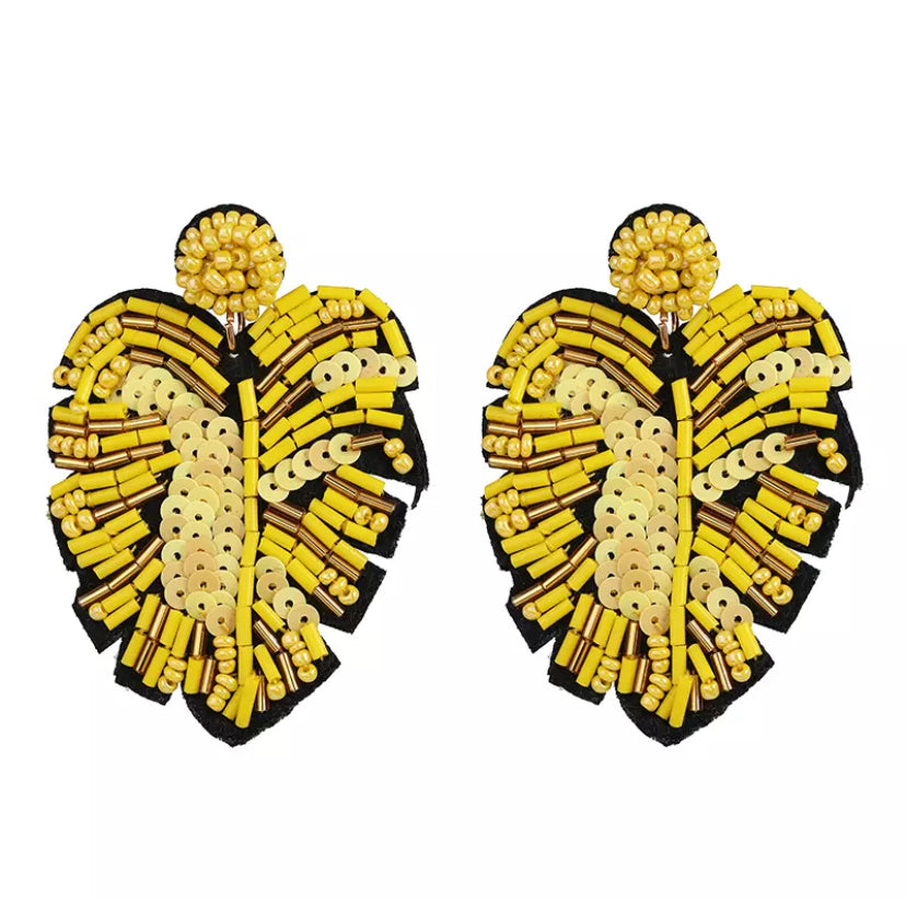 Ressorts De Palme Yellow Earrings