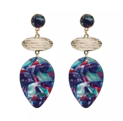 Scarlett Blue/Purple Drop Earrings