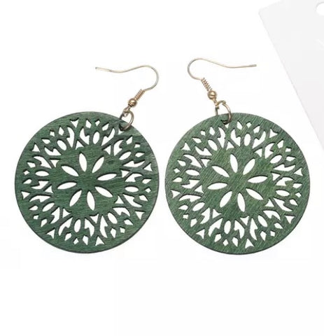 Elinore Green Earrings