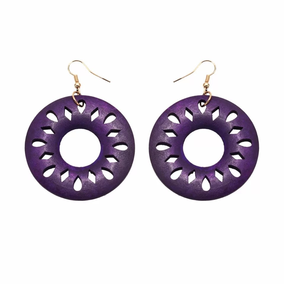 Tana Purple Earrings