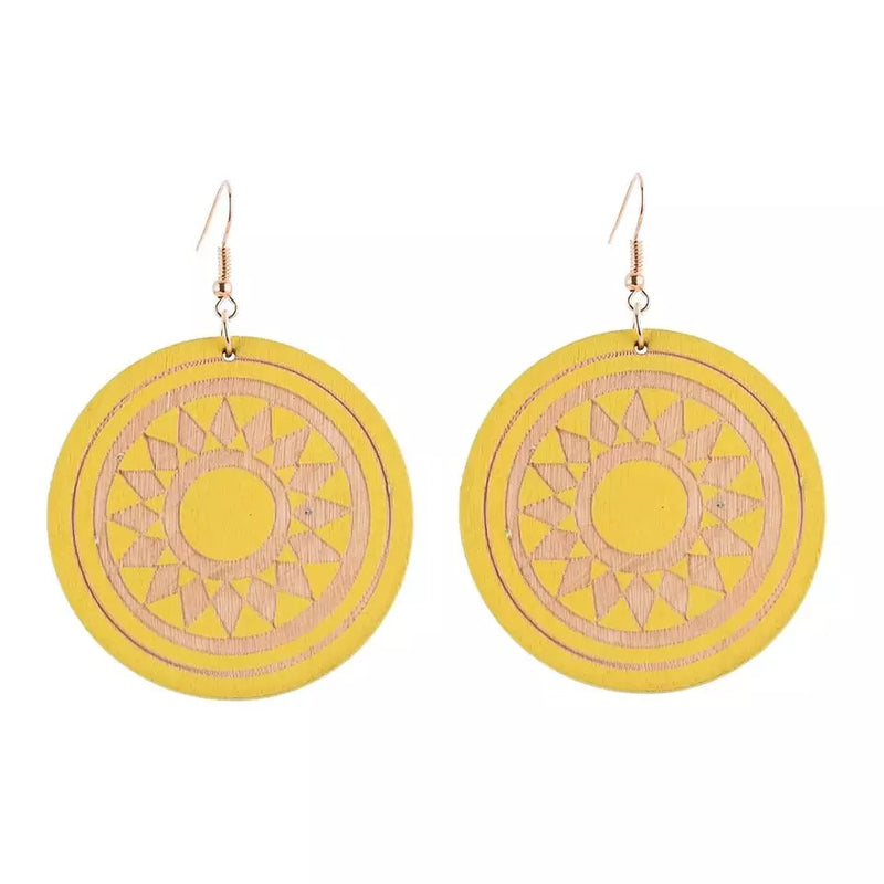 Talin Yellow Earrings
