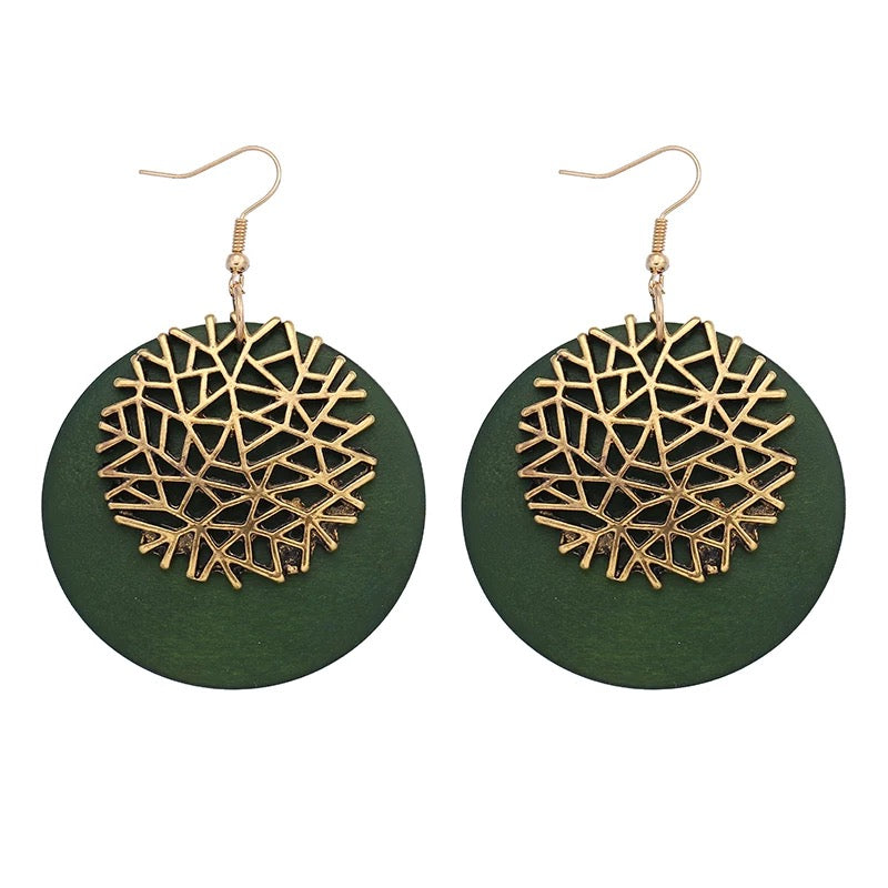 Epona Green Earrings