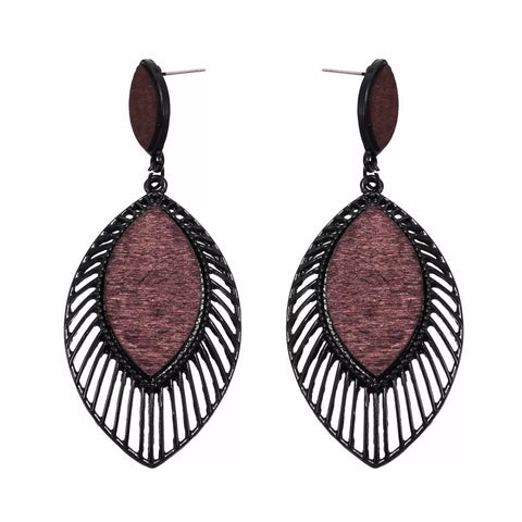 Evelina Mocha Earrings