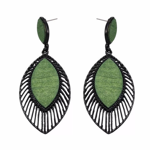Evelina Green Earrings