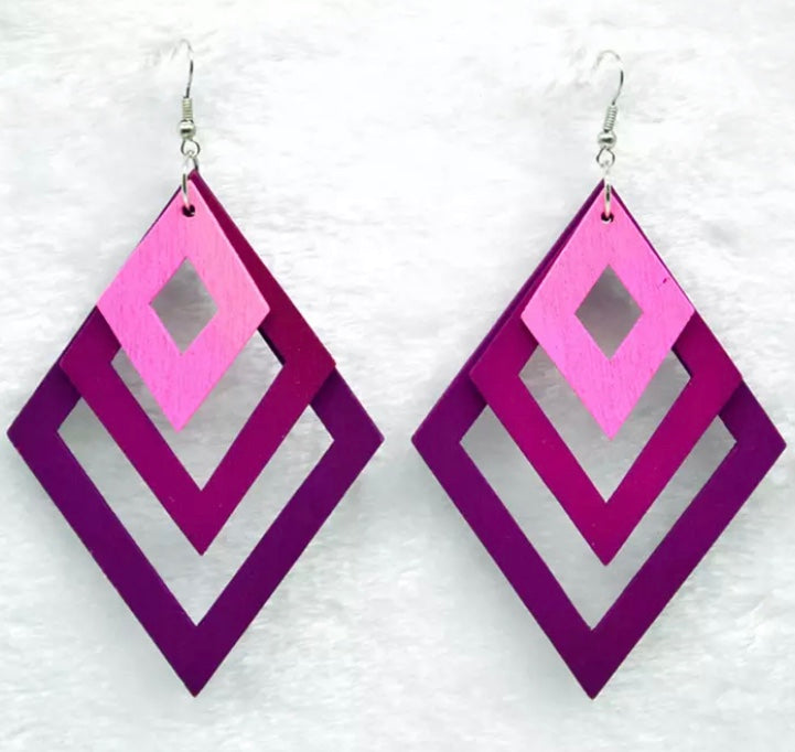Torfi Pink Earrings