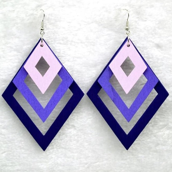 Torfi Purple Earrings