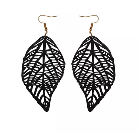 Tela Black Earrings