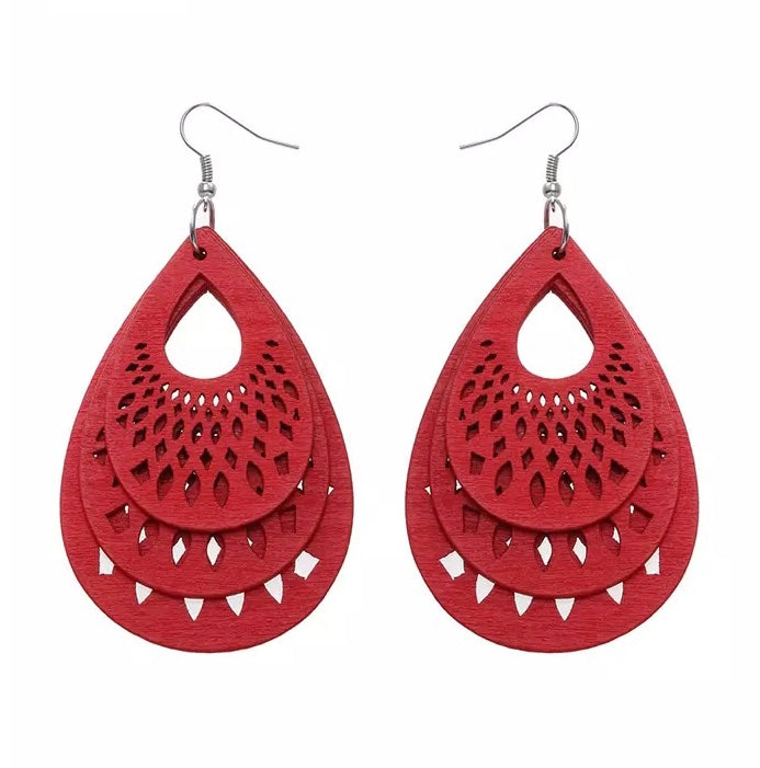 Tamar Red Earrings