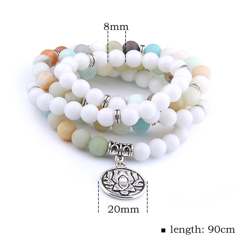 The Mala White Lotus Necklace/Bracelet