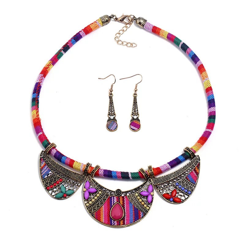 The Trice Pink Necklace Set