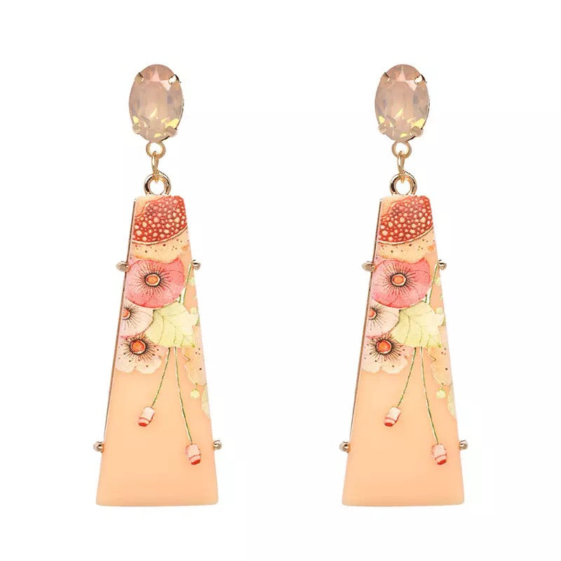 Bijou Peach Earrings