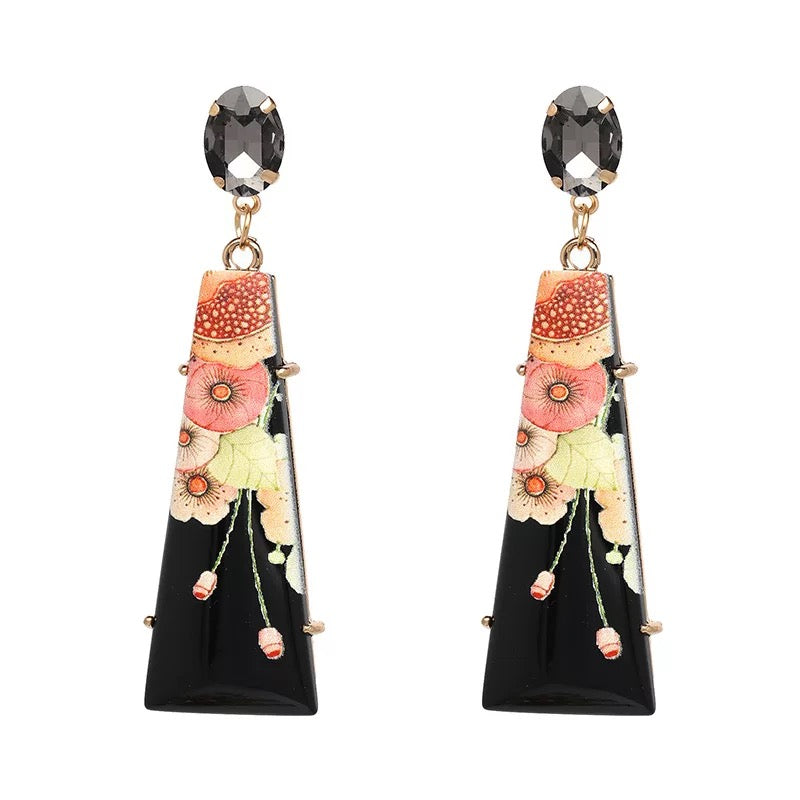 Bijou Black Earrings