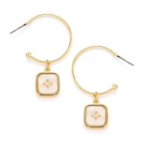 Graciella White Earrings