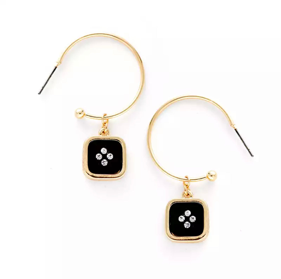 Graciella Black Earrings