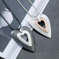 The Genna Heart Grey Necklace (Long)