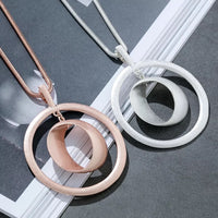 The Guilaine Rose Gold Necklace (Long)
