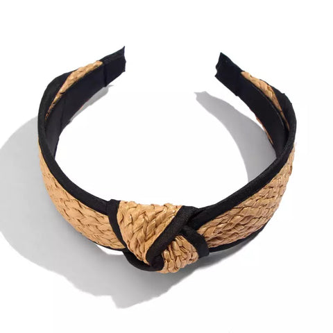 Hana Black Trim Head Band