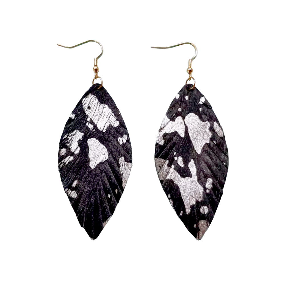 Kortney Black/Silver Earrings