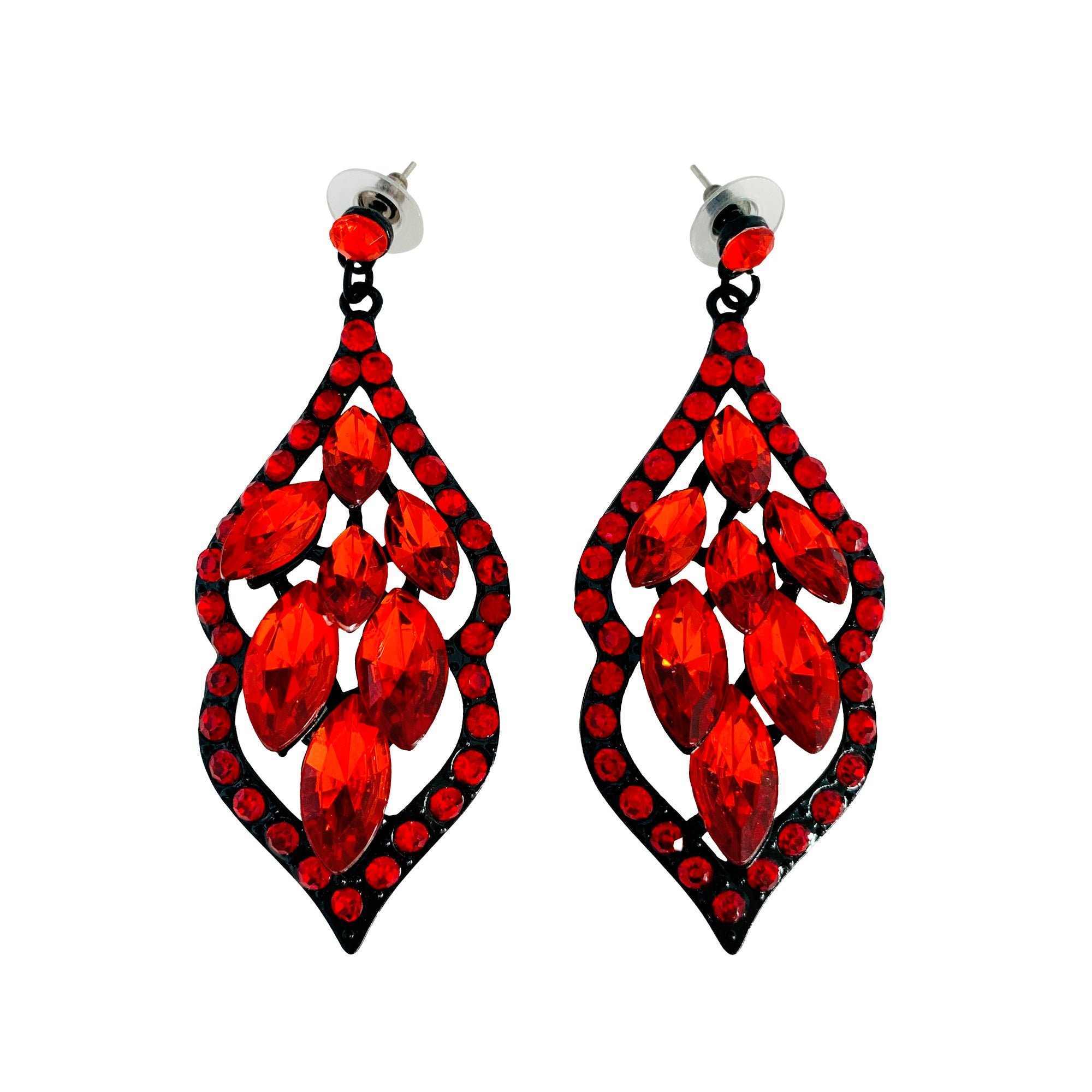 Harietta Red Earrings