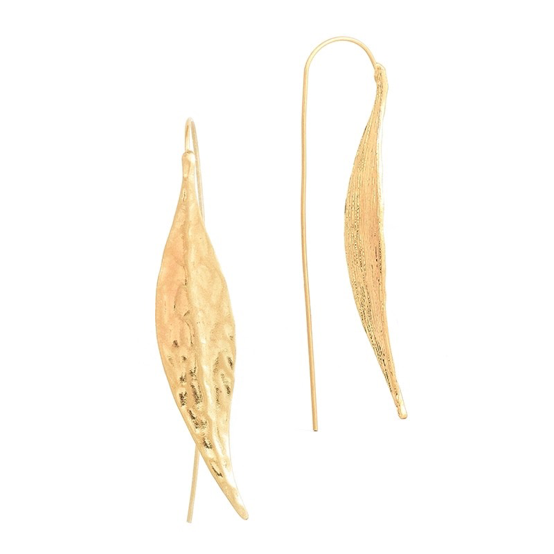 Duchess Leaf Gold Earring