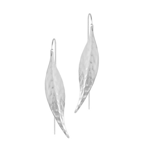 Duchess Leaf Silver Earrings