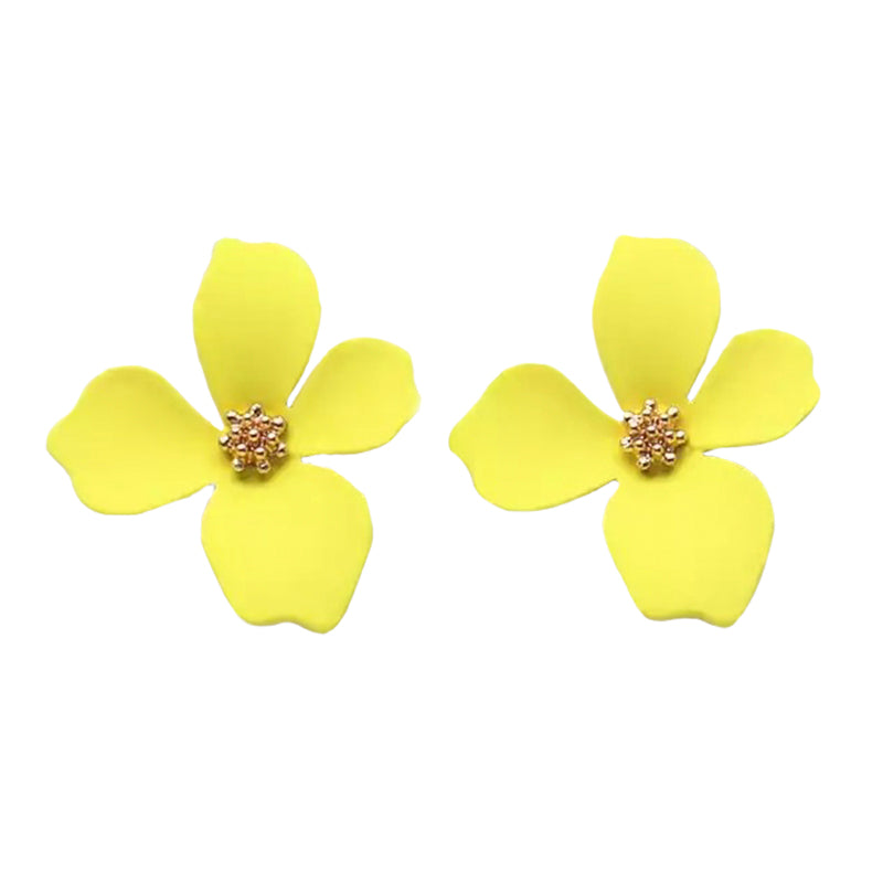 Cherie Petals Yellow Earrings