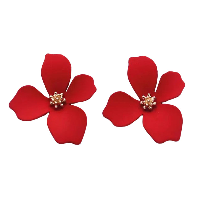 Cherie Petals Red Earrings