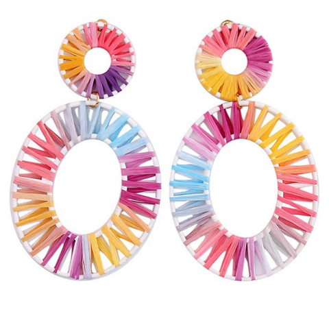 Margot White Earrings