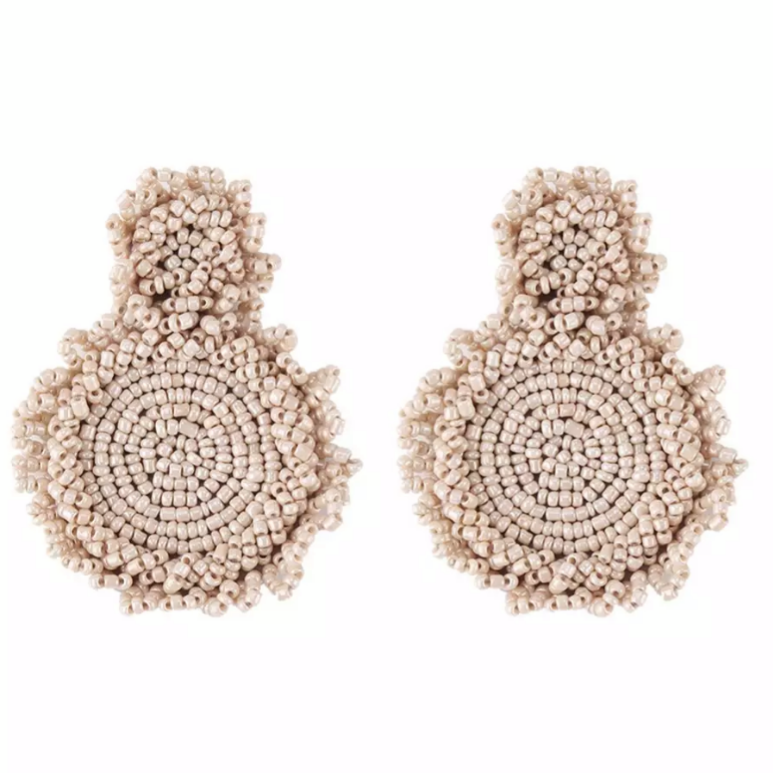 Camilla Beige Earrings