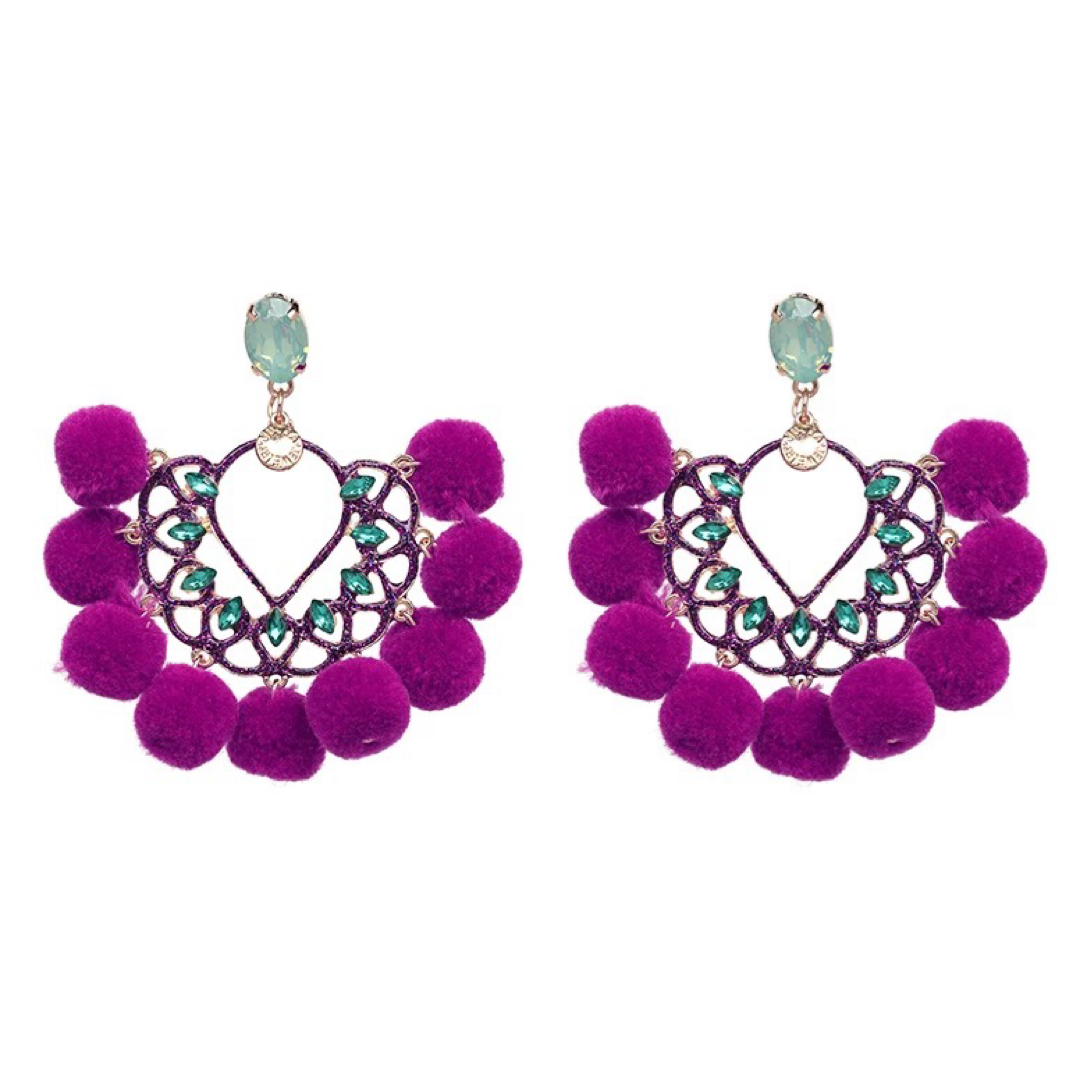 Penelope Purple Earrings