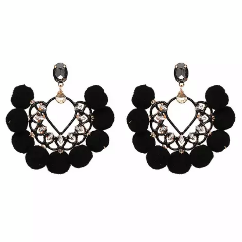 Penelope Black Earrings