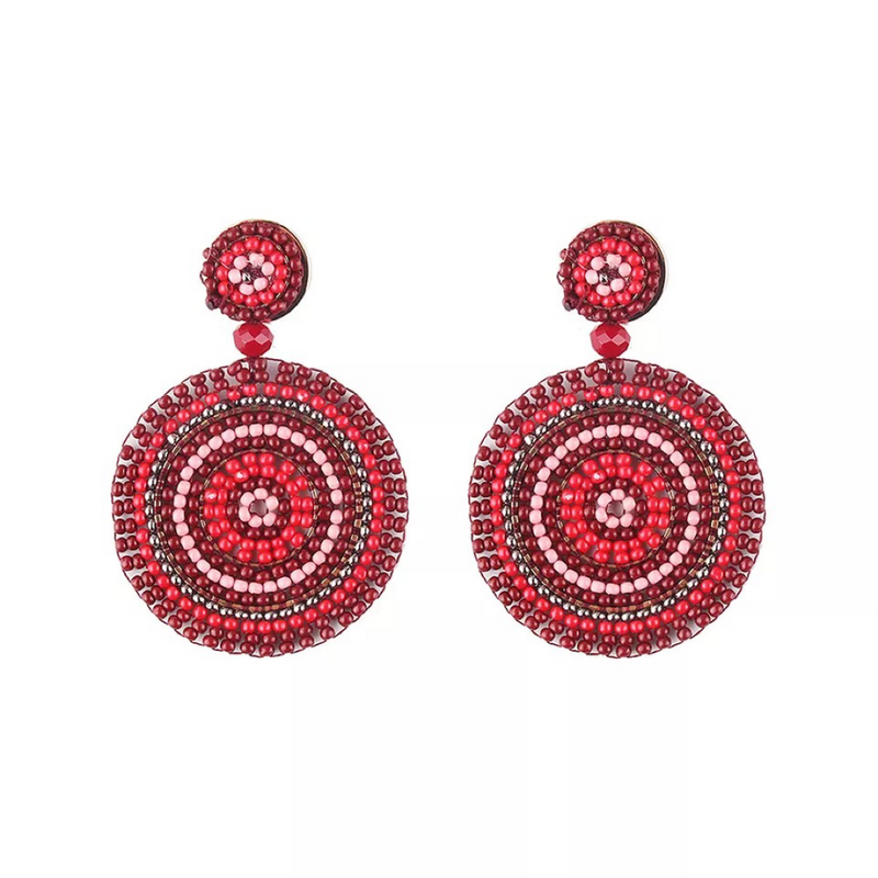 Elayna Red Earrings