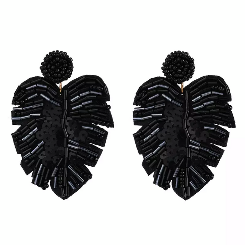 Ressorts De Palme Black Earrings