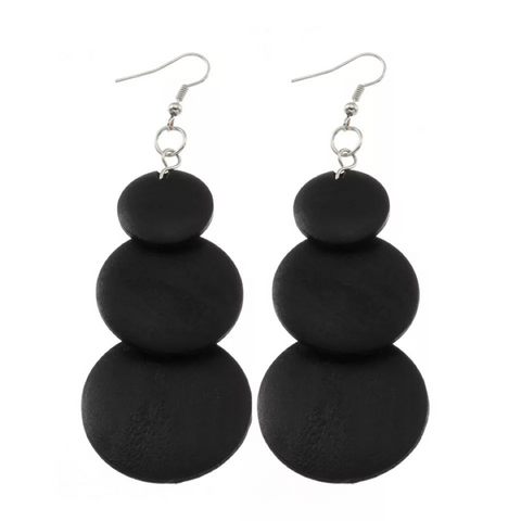 Tanay Black Earrings